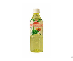 Peach Aloe Vera Juice With Pulp Okeyfood In 500ml Bottle