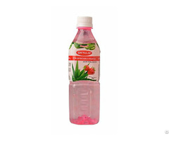 Strawberry Aloe Vera Juice With Pulp Okeyfood In 500ml Bottle