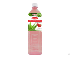 Strawberry Aloe Vera Juice With Pulp Okeyfood In 1 5l Bottle