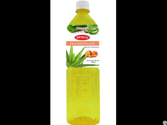 Peach Aloe Vera Juice With Pulp Okeyfood In 1 5l Bottle