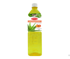 Peach Aloe Vera Juice With Pulp Okeyfood In 1 5l Bottle