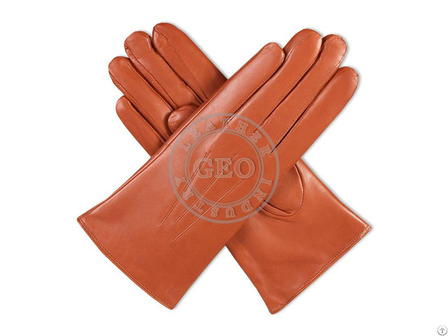 Women Fashion Winter Leather Gloves