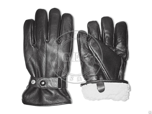 Cut Piece Cp Cheap Price Winter Sheep Leather Gloves