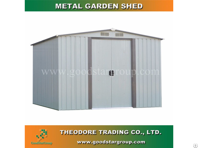 Metal Garden Shed Apex Roof Outdoor Tools Bicycle Storage Kitset Portable Building