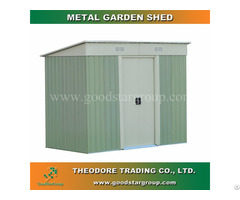Metal Garden Shed Pent Roof 4x6ft Outdoor Tools Bicycle Storage Kitset Portable Steel Building