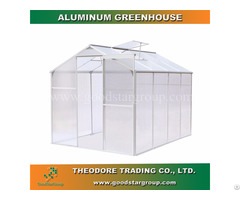 Aluminum Hobby Greenhouse 8x6ft Silver Color Backyard Outdoor Portable Kitset Building