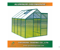 Aluminum Hobby Greenhouse 8x6ft Green Color Backyard Ourdoor Portable Kitset Building