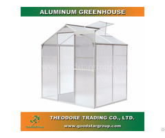 Aluminum Hobby Greenhouse 4x6ft Silver Color Backyard Ourdoor Portable Kitset Building