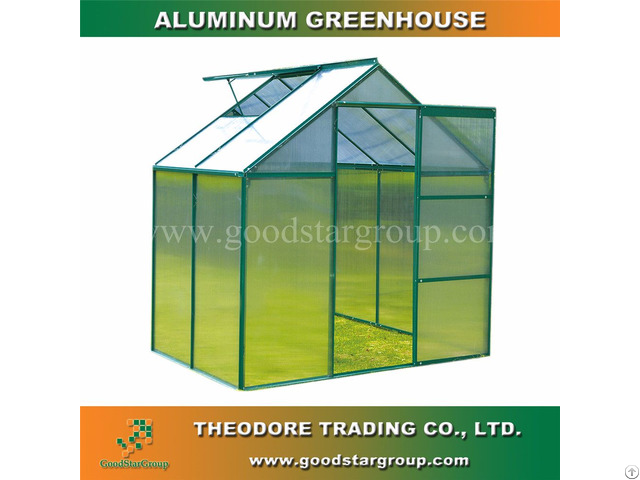 Aluminum Hobby Greenhouse 4x6ft Green Color Backyard Ourdoor Portable Kitset Building
