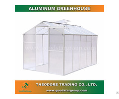Aluminum Hobby Greenhouse 10x6ft Silver Color Backyard Ourdoor Portable Kitset Building