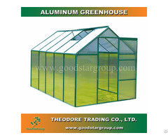 Aluminum Hobby Greenhouse 10x6ft Green Color Backyard Ourdoor Portable Kitset Building