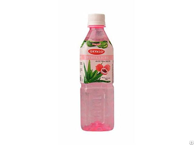 Okyalo 500ml Raw Aloe Vera Drink With Lychee Flavor Okeyfood