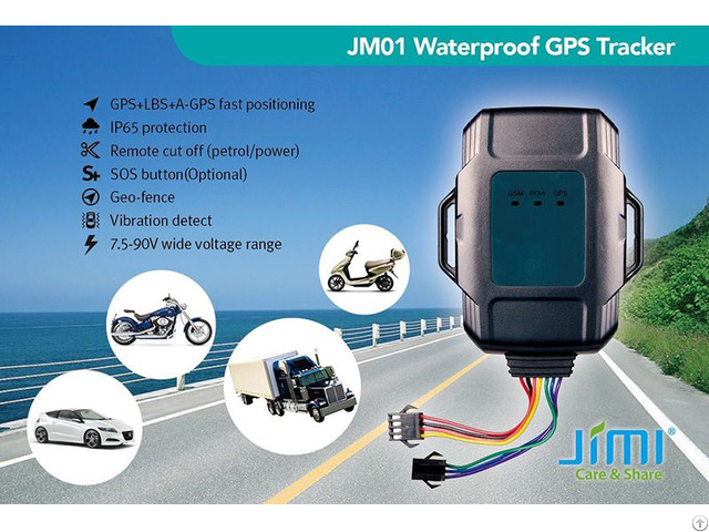 Jm01 Dustproof And Waterproof Vehicle Gps Tracker