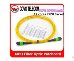 Fiber Optic Patch Cord Mpo Mtp To Om3 Om4 Lc Sm Mm