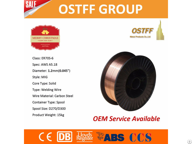 High Quality Copper Coated Co2 Mig Welding Wire Aws Er70s 6