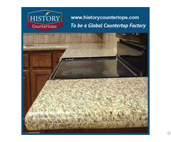 Tiger Skin Yellow Granite Kitchen Countertops And Vanity Top
