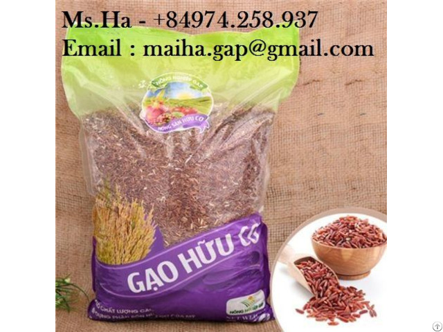 Red Brown Rice From Vietnam Dragon Blood Long Grain