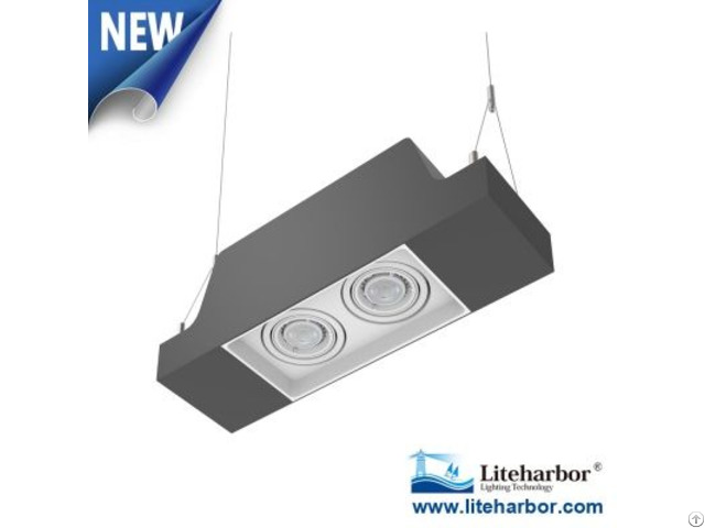 Pendent Mount Twin Gu10 Led Multiple Downlight