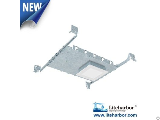 Four Inch New Construction Ultra Slim Square Led Recessed Panel Light