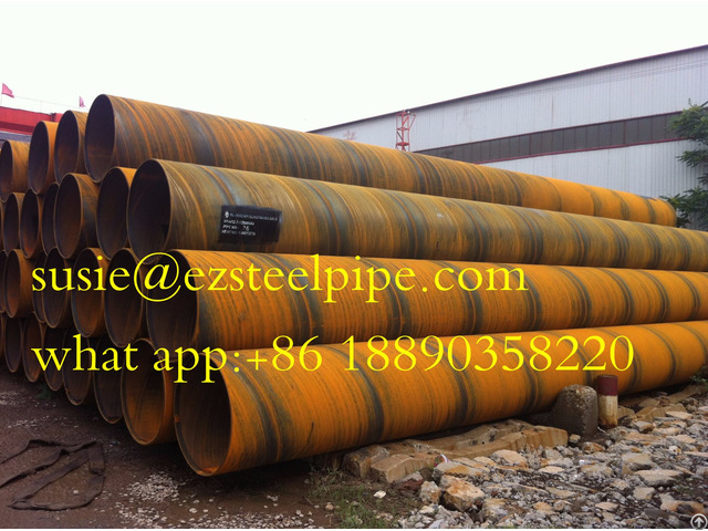 Ssaw Spiral Submerged Arc Welded Steel Pile Pipe For Tubular Piles