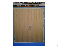 Double Wood Fire Door