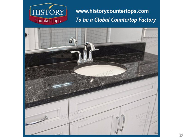 Black Pearl Granite For Kitchen Countertops And Vanity Tops