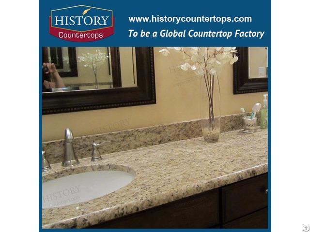 Giallo Ornamental Yellow Granite Kitchen Countertops And Vanity Tops