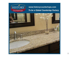Giallo Ornamental Yellow Granite Kitchen Countertops And Vanity Tops