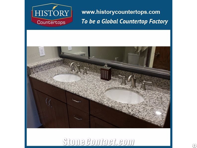 G723 Tiger Skin White Granite Bathroom Vanity Tops And Kitchen Countertops