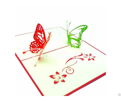 Two Butterflies 3d Pop Up Handmade Greeting Card