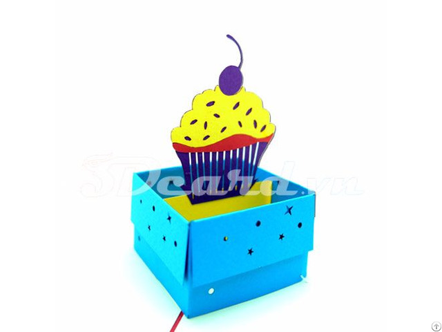 Box Cake Pop Up Birthday Card