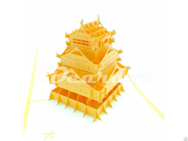 Kumamoto Japan 2 3d Pop Up Famous Building Card