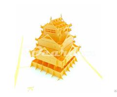 Kumamoto Japan 2 3d Pop Up Famous Building Card