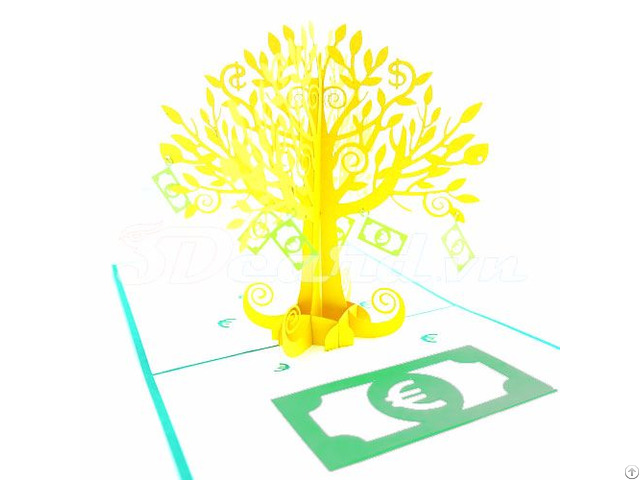 Money Tree 3d Pop Up Greeting Card