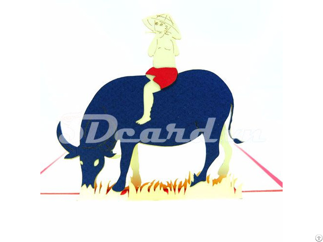 Buffalo And Baby 3d Pop Up Birthday Card
