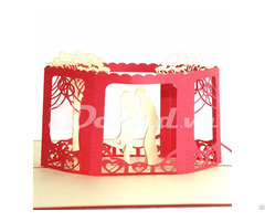 Wedding Invitation 3d Pop Up Card