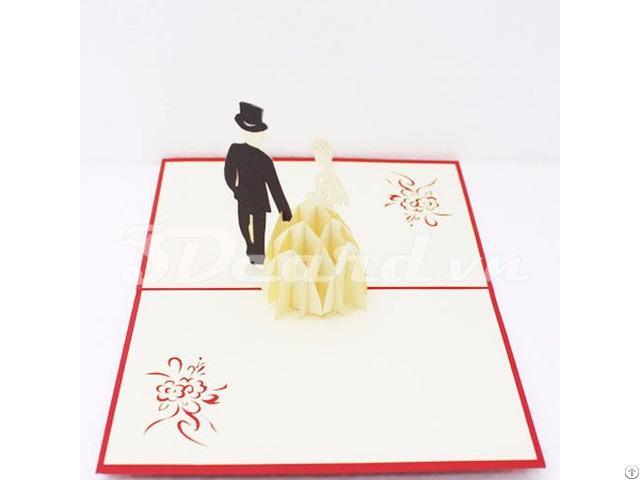 Luxurious Wedding 3d Pop Up Card
