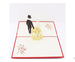 Luxurious Wedding 3d Pop Up Card
