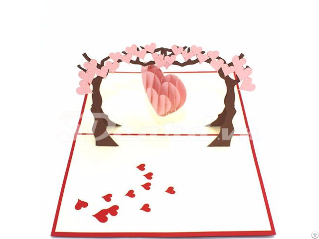 Love Tree 3d Pop Up Valentine Card