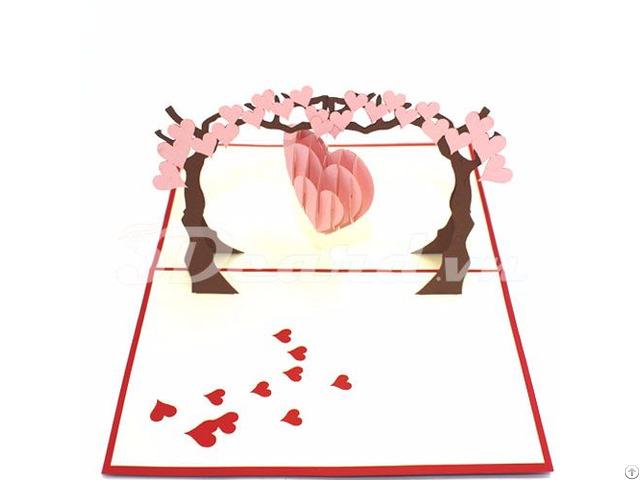 Love Tree 3d Pop Up Valentine Card