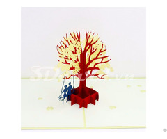 Couple Under The Dogwood 3d Pop Up Birthday Card