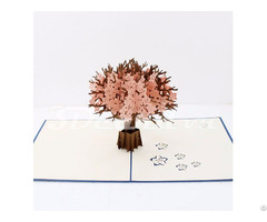 Cherry Blossom 3d Pop Up Handmade Greeting Card