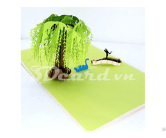 Willow Love Scene 3d Pop Up Birthday Greeting Card
