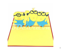 Minion 3d Pop Up Birthday Card