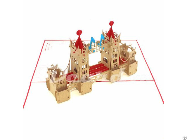 Tower Bridge 1 3d Pop Up Handmade Famous Building Card