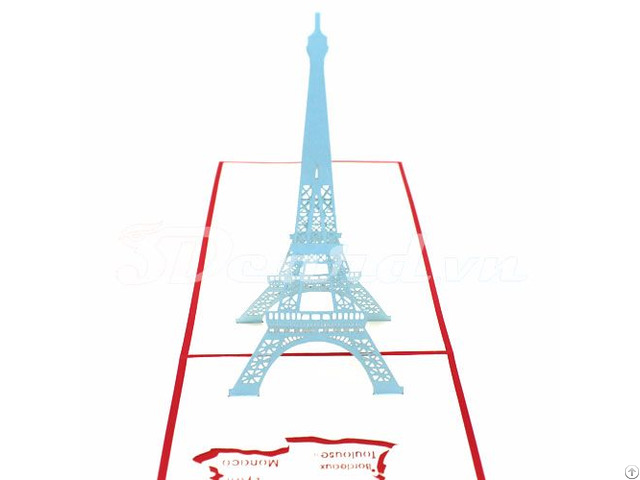 Eiffel Tower 1 3d Pop Up Greeting Card