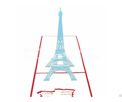 Eiffel Tower 1 3d Pop Up Greeting Card
