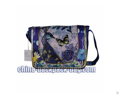Shiny Glitter Peacock Kids Messenger Bags