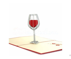 Wine Glass 3d Pop Up Congratulation Card