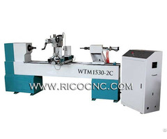 Wood Lathe Machine Woodturning Tool Cnc Cylinder Engraving Kit Woodworking Router Wtm1530 2c